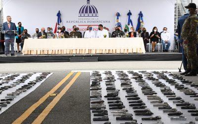"""Gobierno destruye las primeras 803 armas de fuego recuperadas en """"Mi País Seguro"""